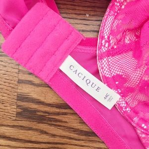 Cacique Intimates & Sleepwear - Cacique Lace Bra Hot Pink NWT